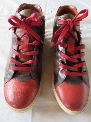 AS98 Basket montante brun-rouge foncé cuir