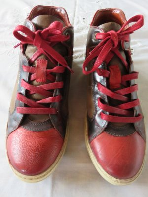 AS98 High Top Sneaker brown-dark red leather