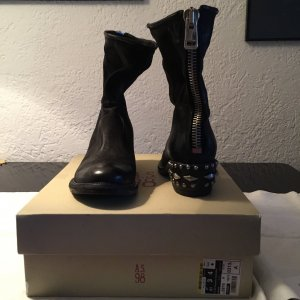 AS98 Zipper Booties black
