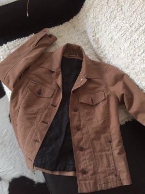 Ascari Jeansowa kurtka beżowy Bawełna