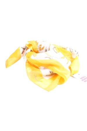 ascot Jedwabna chusta Wzór w kwiaty W stylu casual