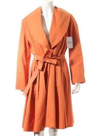 Asena Kleider Übergangsmantel orange klassischer Stil