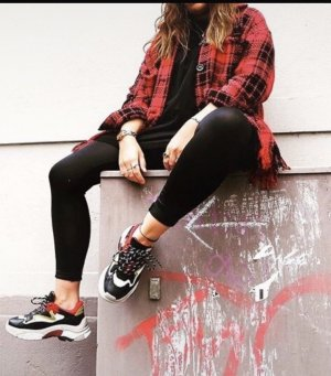 ASH addict Dad Sneaker 40 schwarz rot weiß Ugly Sneakers Blogger Trend Schuhe