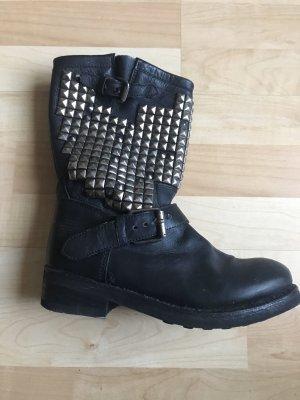 ASH Biker Boots black-silver-colored