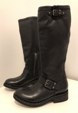 ASH Biker Boots black leather
