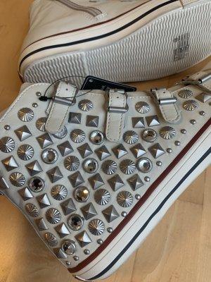 Ash Chucks Sneaker Nieten Gr. 41 Creme weiß Silber