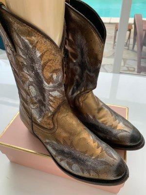 ASH Cowboystiefel Neuwertig Gold handmade Bohostyle 39.5