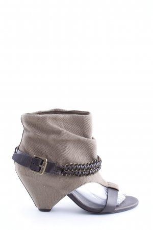 ASH Cut Out Booties natural white-brown street-fashion look