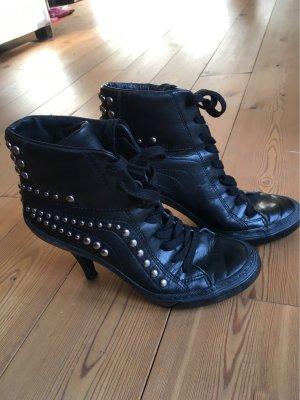 ASH Heel Sneakers black leather