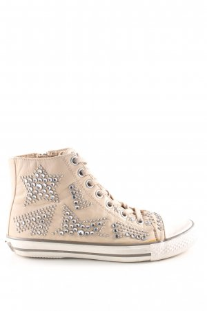 ASH High Top Sneaker nude-weiß Street-Fashion-Look