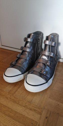 Ash Italia High Top Sneaker silver-colored