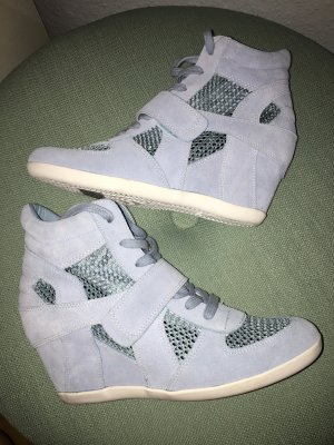 Wedge sneaker azuur