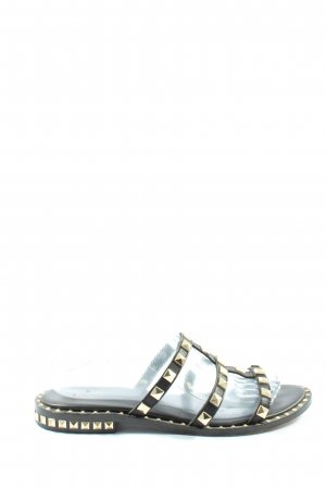 ASH Riemchen-Sandalen schwarz-goldfarben extravaganter Stil