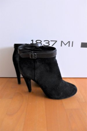 ASH Ankle Boots black-silver-colored leather