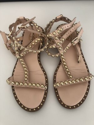 ASH Strapped Sandals gold-colored-pink
