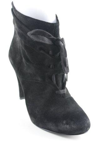 ASH Plateau-Stiefel schwarz Materialmix-Look