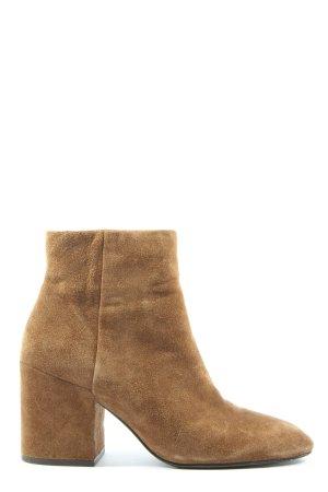 ASH Zipper Booties brown casual look