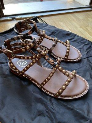 ASH Roman Sandals cognac-coloured-gold-colored leather
