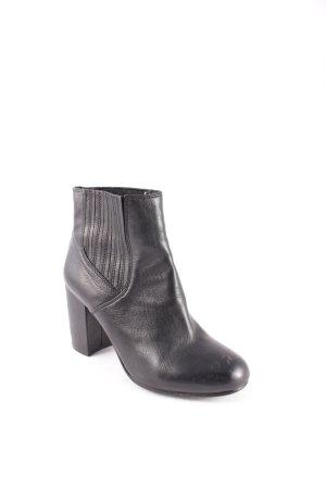 ASH Schlüpf-Stiefeletten schwarz klassischer Stil Leder