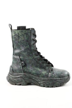 ASH Aanrijg laarzen khaki-zwart camouflageprint casual uitstraling