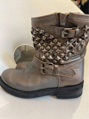 ASH Low boot argenté-bronze cuir