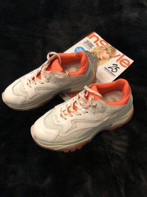 ASH Sneakers met veters wit-oranje