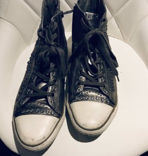ASH Lace-Up Sneaker silver-colored leather
