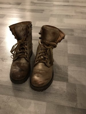 ASH Combat Boots gold-colored-brown