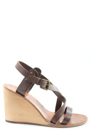 ASH Wedges Sandaletten braun Casual-Look