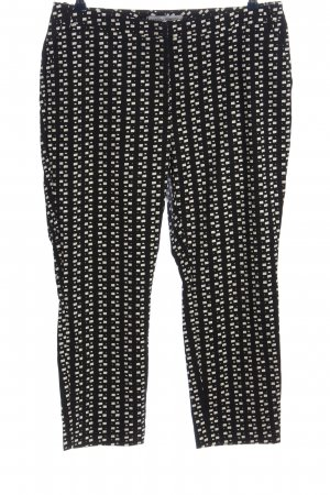 Ashley Brooke 3/4 Length Trousers black-white allover print casual look