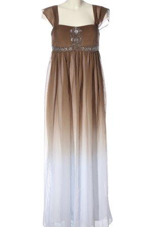 Ashley Brooke Evening Dress brown-white color gradient elegant
