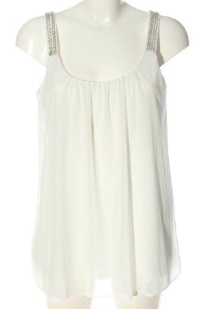 Ashley Brooke Sleeveless Blouse white elegant