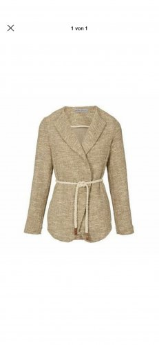 Ashley Brooke Long Blazer oatmeal
