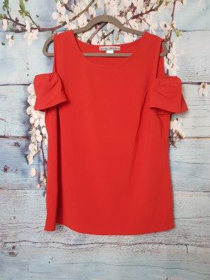 Ashley Brooke Camisa tipo Carmen rojo Poliéster