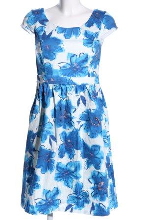 Ashley Brooke Etuikleid weiß-blau Allover-Druck Casual-Look