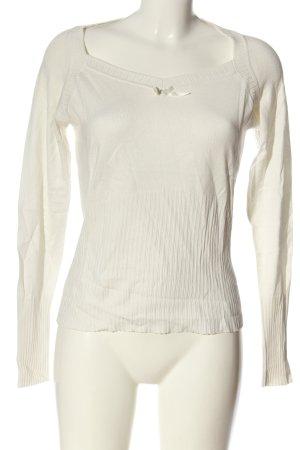 Ashley Brooke Fine Knit Jumper white casual look
