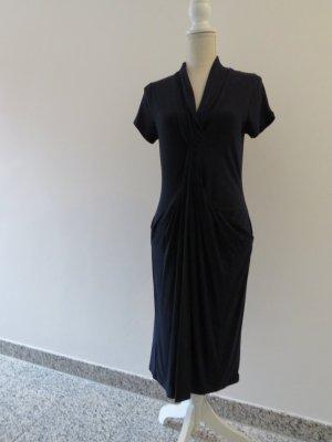 ashley brooke - festliches dunkelblaues Kleid mit Schalkragen