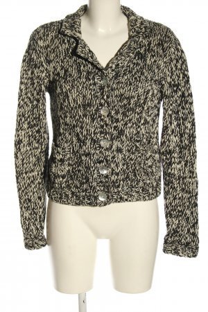 Ashley Brooke Coarse Knitted Jacket black-cream flecked casual look