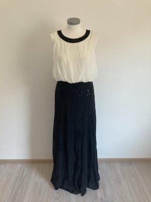 Ashley Brooke Heine Kleid Abendkleid schwarz weiß 40 L