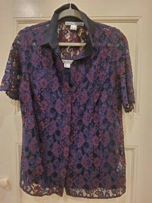 ashley brooke/HEINE Kurzarm-Bluse aus Spitze mit Top, Gr. 42/NEU