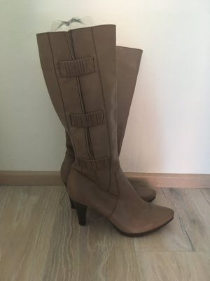Ashley Brooke Heine Stiefel taupe braun Leder Gr. 40