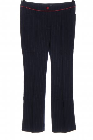 Ashley Brooke Low-Rise Trousers blue-red striped pattern casual look