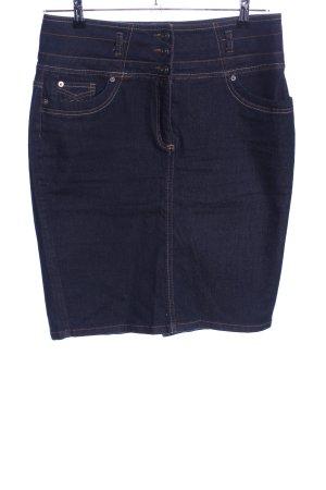 Ashley Brooke Jupe en jeans bleu style décontracté
