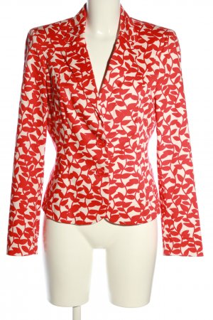 Ashley Brooke Jersey Blazer red-white abstract pattern classic style