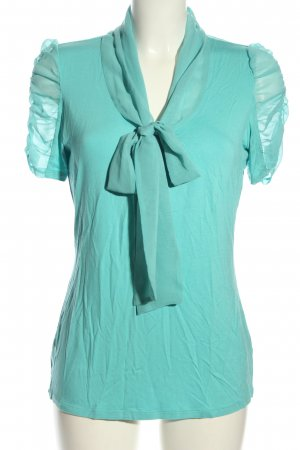 Ashley Brooke Short Sleeved Blouse blue casual look