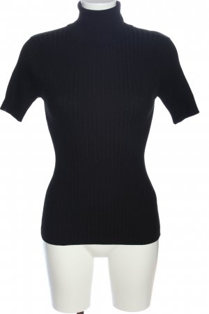 Ashley Brooke Short Sleeve Sweater black striped pattern casual look