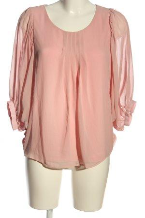 Ashley Brooke Camicetta a maniche lunghe rosa stile casual