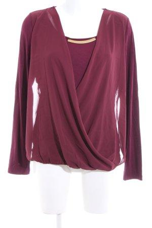 Ashley Brooke Langarm-Bluse rot Casual-Look