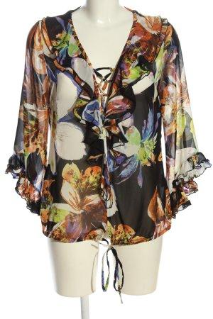 Ashley Brooke Camicetta a maniche lunghe motivo floreale stile casual