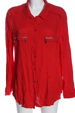 Ashley Brooke Camicia a maniche lunghe rosso stile casual